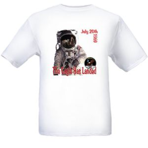 NASA Apollo 11 'The Eagle Has Landed' T-shirt - (L) Large